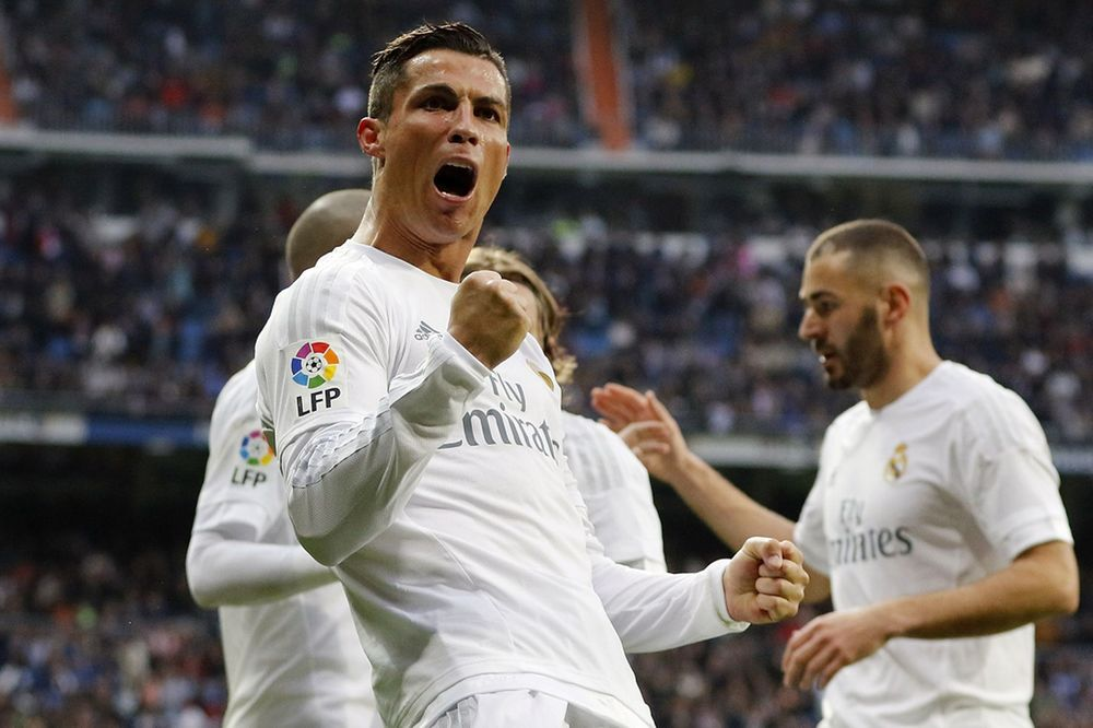 Ronaldo celebrating against Real Sociedad.  What motivates Ronaldo to be so successful?  I attempt to dive into the science behind his worldview.