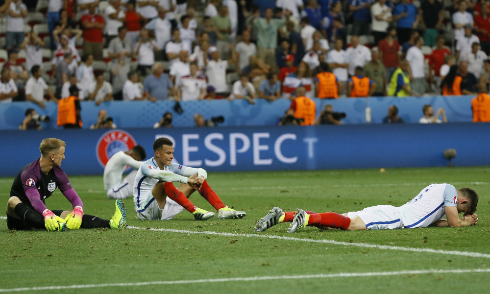 English players shocked as they are shown the door by Iceland last week