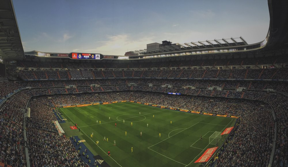 Taken from my seat at the Bernabeu during Real Madrid's first of four draws in a row.