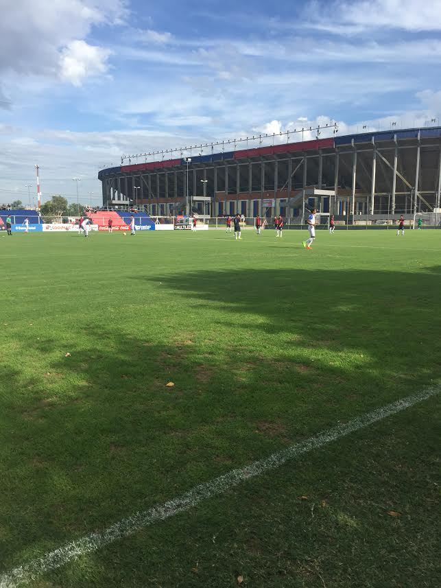 San Lorenzo's u17s in action against the US U16MNT, San Lorenzo's stadium in the backdrop