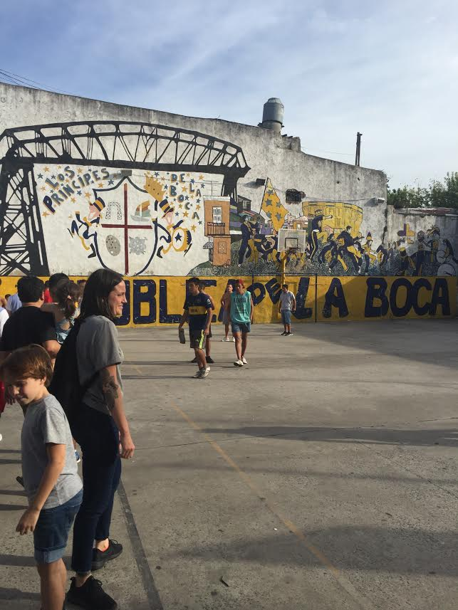 A street match blocks from La Bombonera Boca Juniors Home stadium