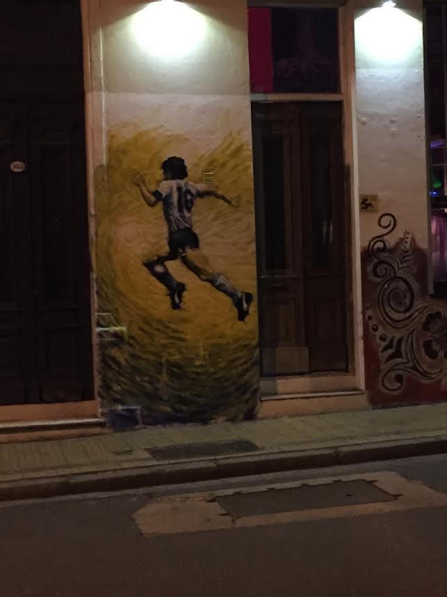 A mural to Maradona some street in Buenos Aires
