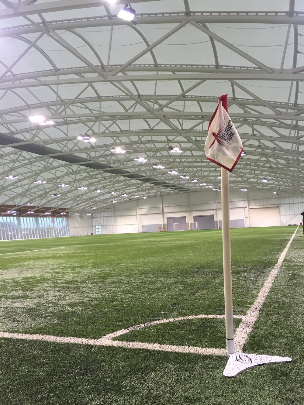 St. George's Park, Burton, England - In February of 2016, Bobby and the U-16 BNT visit England's national training center and are thankful for such quality indoor facilities during the winter.