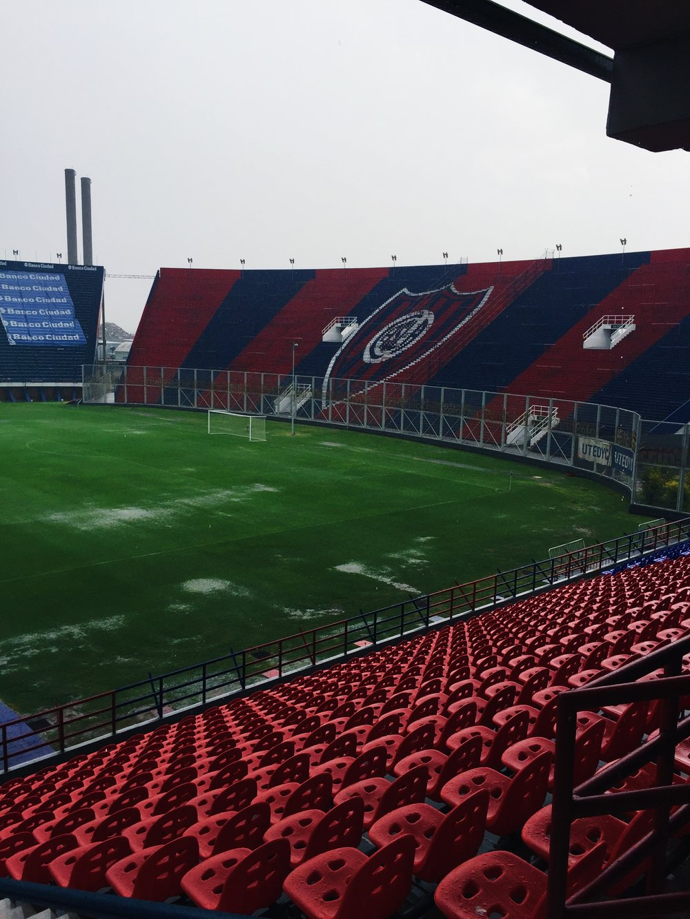 Estadio Pedro Bedigain, Buenos Aires, Argentina - Kevin looks on a waterlogged pitch at San Lorenzo while on duty with the U-16 BNT.
