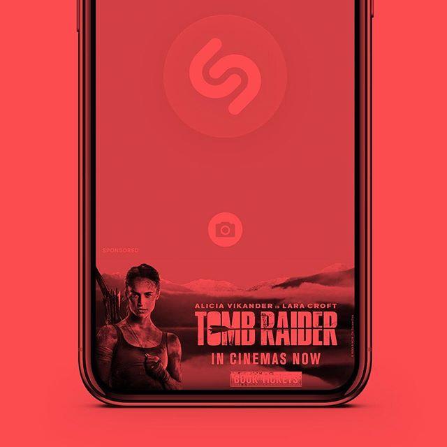Lara takes over Shazam today! 🏹 #digitaladvertising #tombraider #shazam