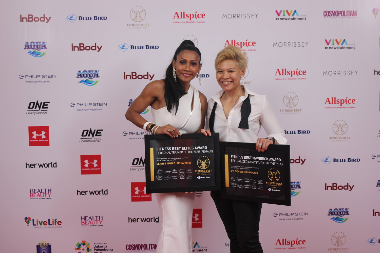 , Female Personal Trainer Elinn S Ahmad, Along With Her Gym E's FITNESS and win Two Awards Overnight in the 2018 Fitness Best Asia Awards – Click to find out more!