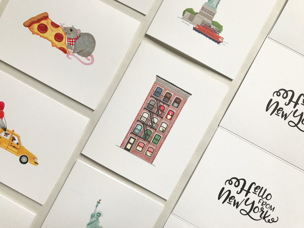 HELLO FROM NY - Bespoke Stationery LineDesign & Illustrations by Little Design Shoppe & Creative Co.