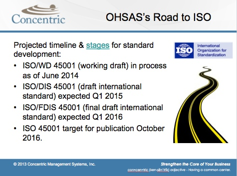 OHSAS 18001 transition to ISO 45001