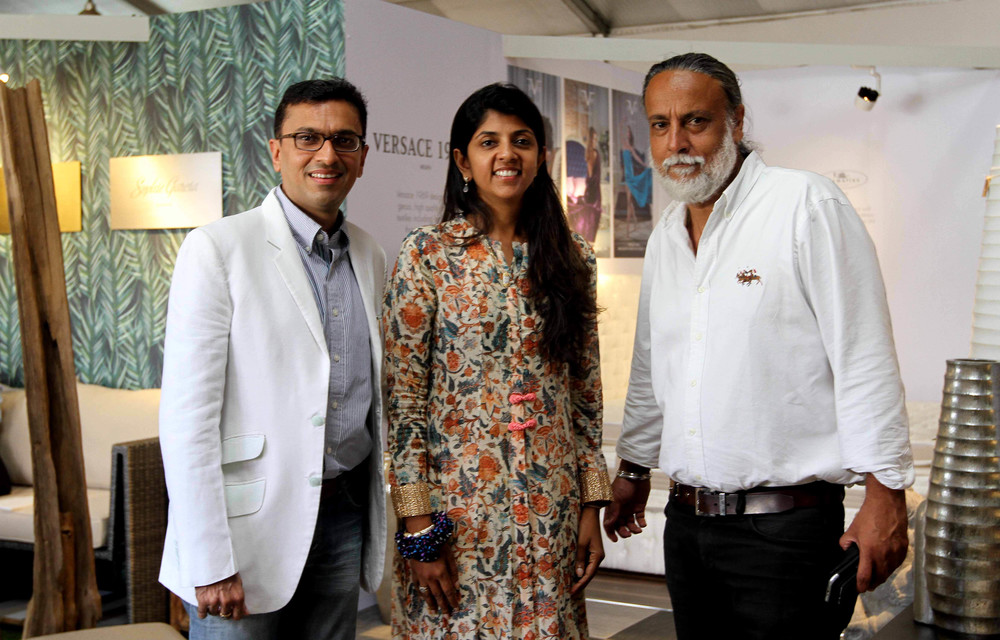 Our President Dr Makhni from Geneva with MKM Colombo Directors Divya & Ritesh