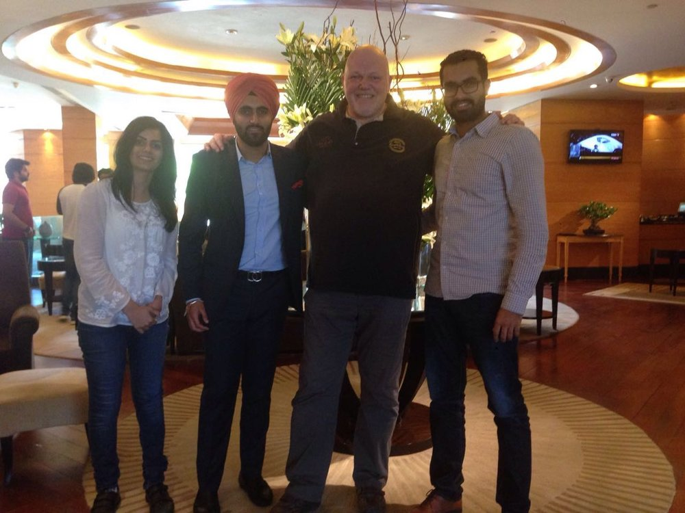 MKM India Directors Harleen, Angad and Manjot meet with Riccardo in Delhi