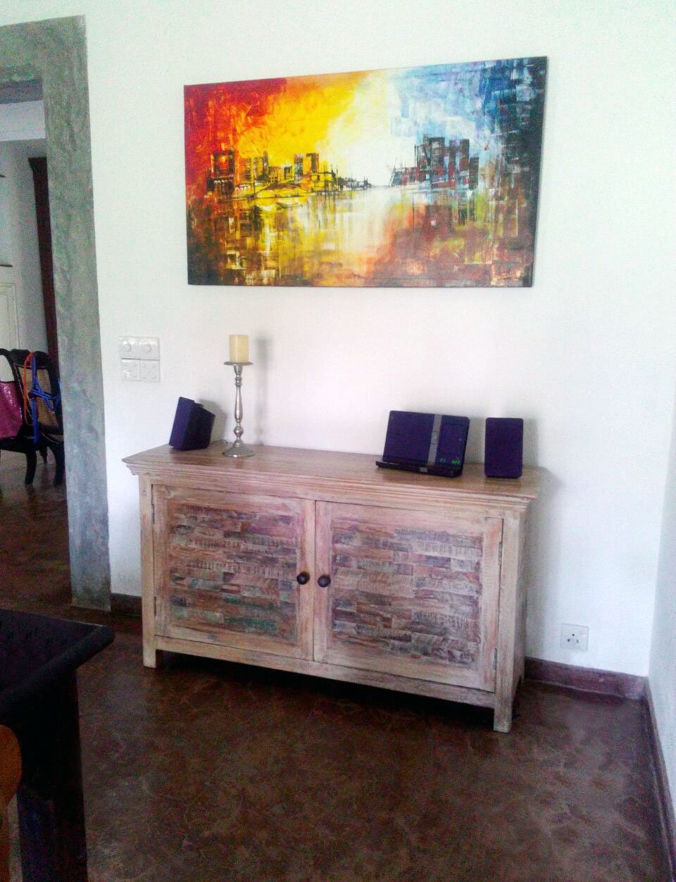 "A gorgeous, unique handmade piece by ""Casa Colonial"", just moved into its new home"