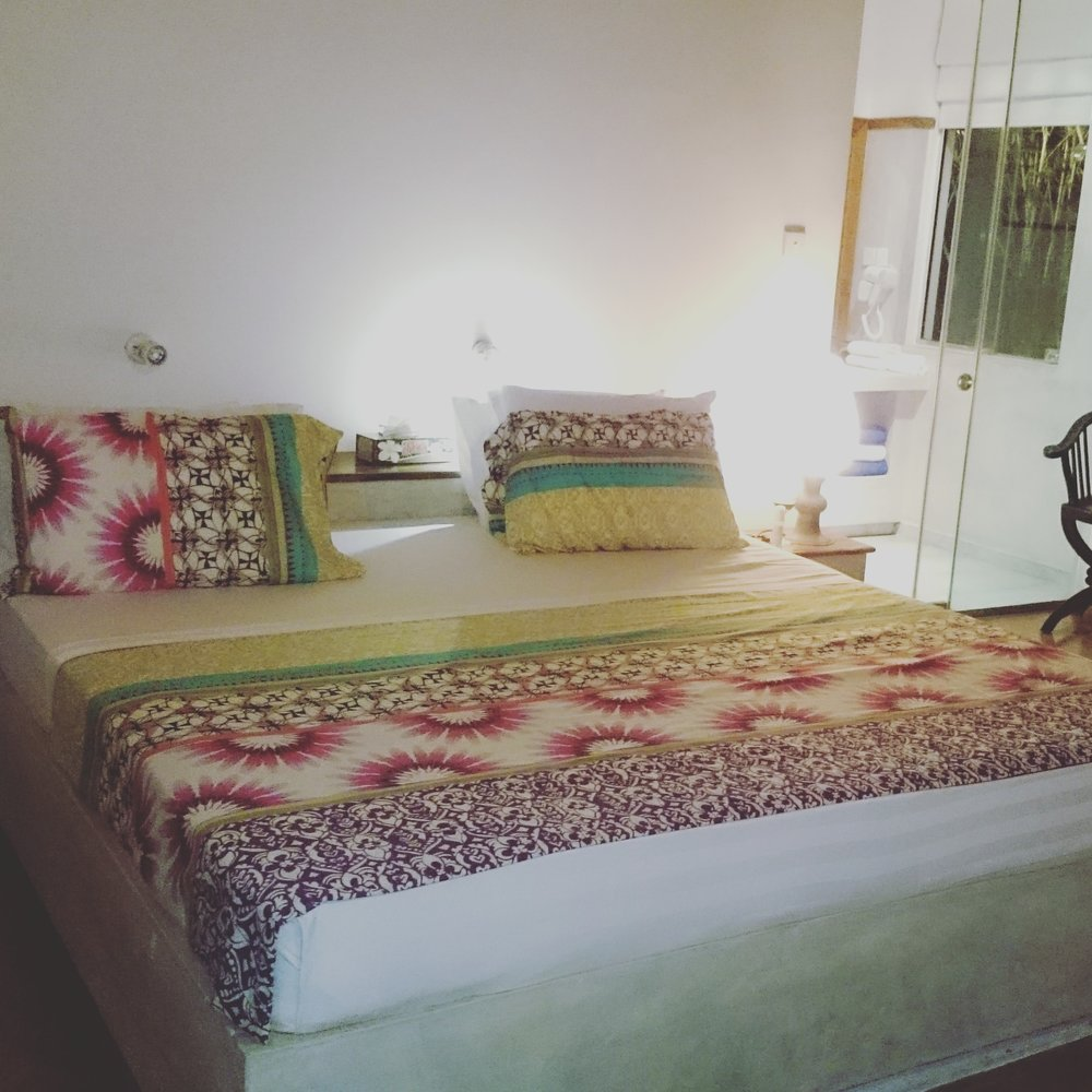 "The owners of the stunning boutique hotel Villa Hundira in Sri Lanka couldn't resist decorating every bedroom with the fabulous designs of the famous Barcelona based brand ""Desigual"".  We thought this was such a great idea to add a touch of style & colour!"