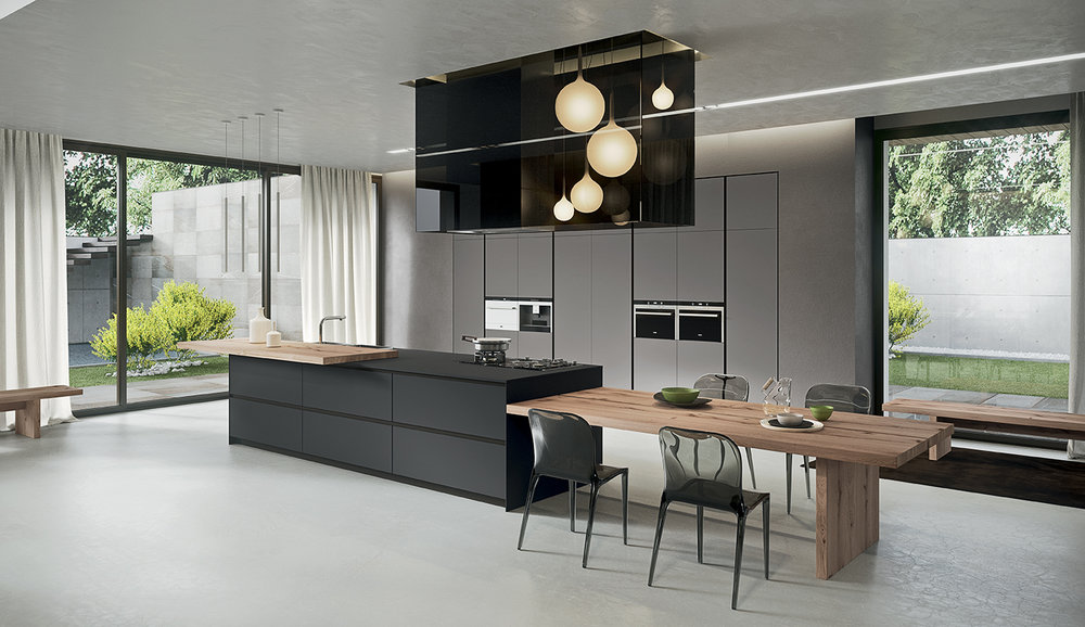MODERN:   Clean lines and a range of contemporary finishes
