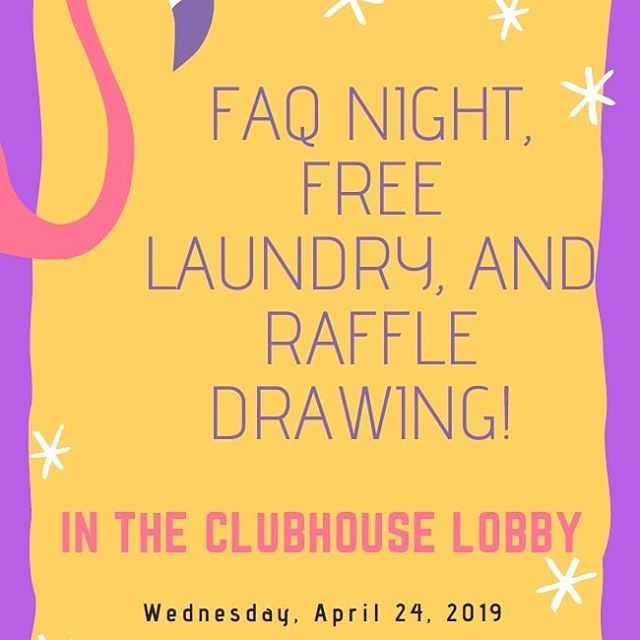 Don't forget, tonight is the quarterly FAQ night! I hope to see you there!