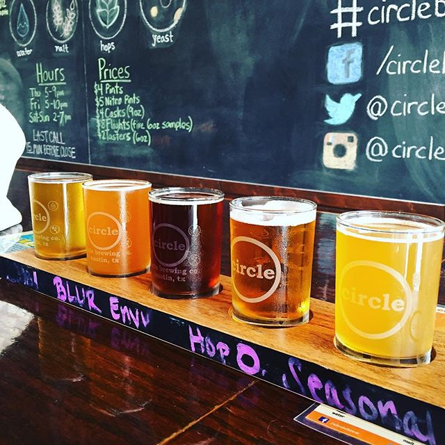 One of the best stops I made this weekend @circlebrew #circlebrewing #atx #austin #craftbeer #beer #flight #thefoodfantasy