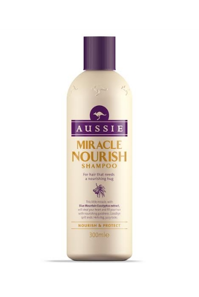 Aussie Miracle Nourish Shampoo, €5.29, Boots