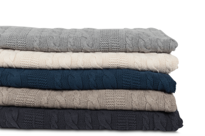 Cable Knit Organic Throws