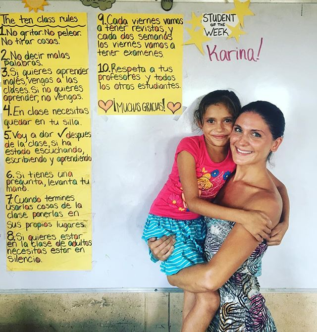 "Karina was ""student of the week"" at Villa Nueva Esperanza! This is based on good behaviour, listening, participating, being respectful and trying hard in class. Thank you Anna and Will and Together Works Society for supporting this amazing project! #nicaragua #education #togetherworkssociety #montysbeachlodge #stayplaychangetheworld #voluntourism"