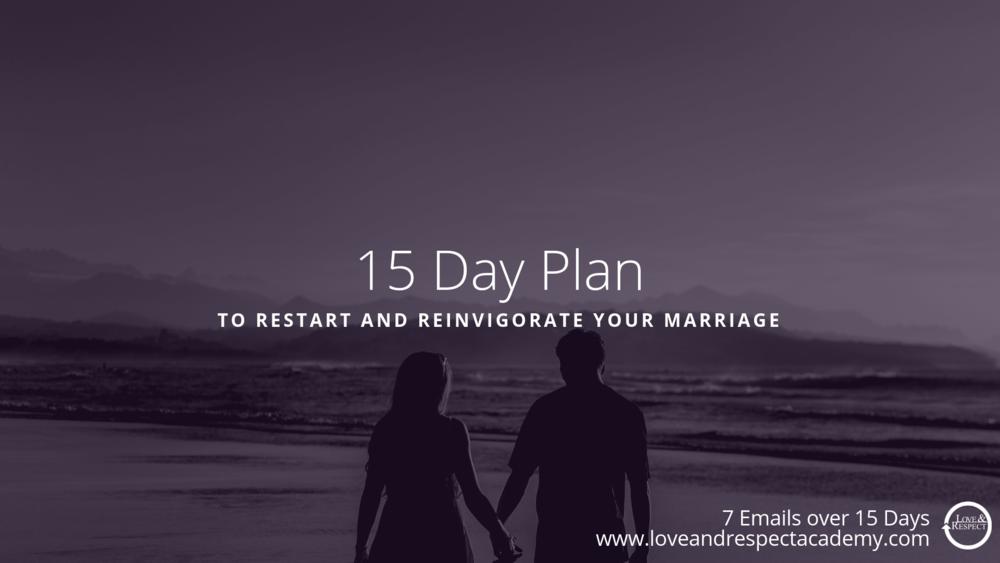 Free 15 Day Marriage Plan Slide -
