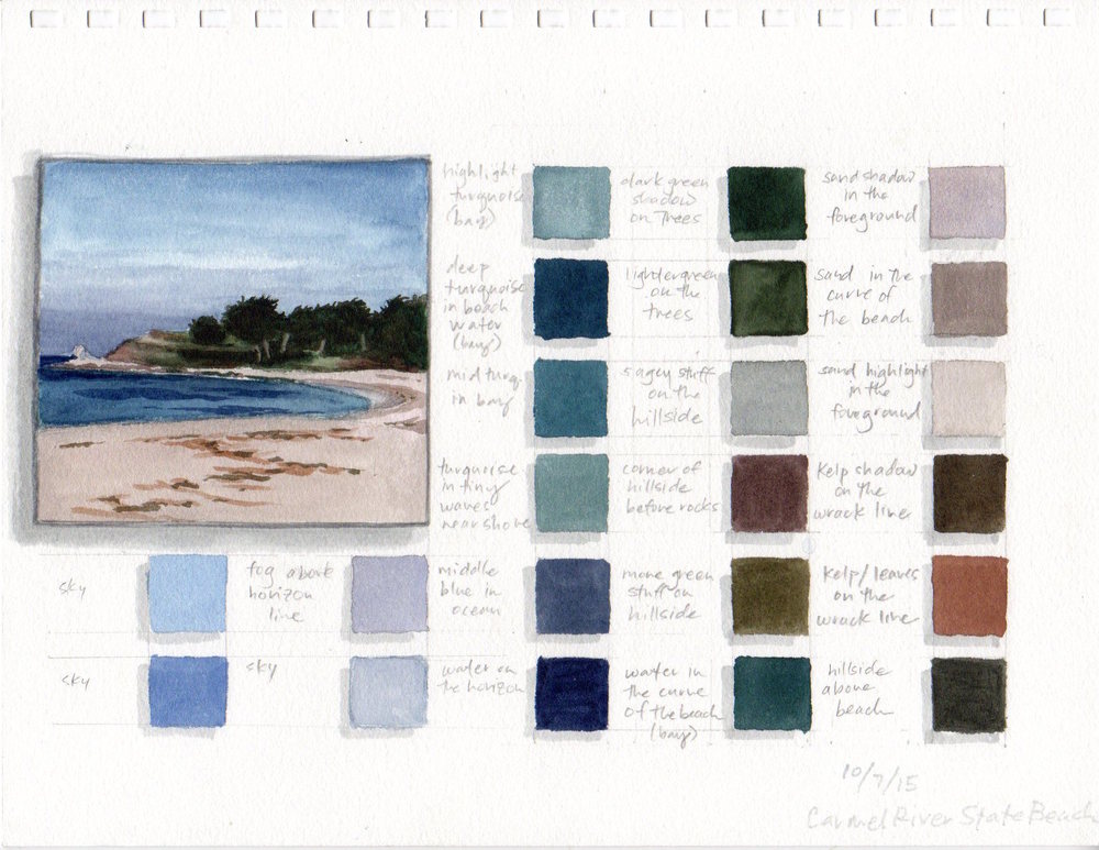Color Swatches (Carmel River State Beach)