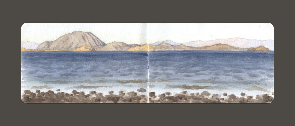 A Windy Evening, Bahia de los Angeles