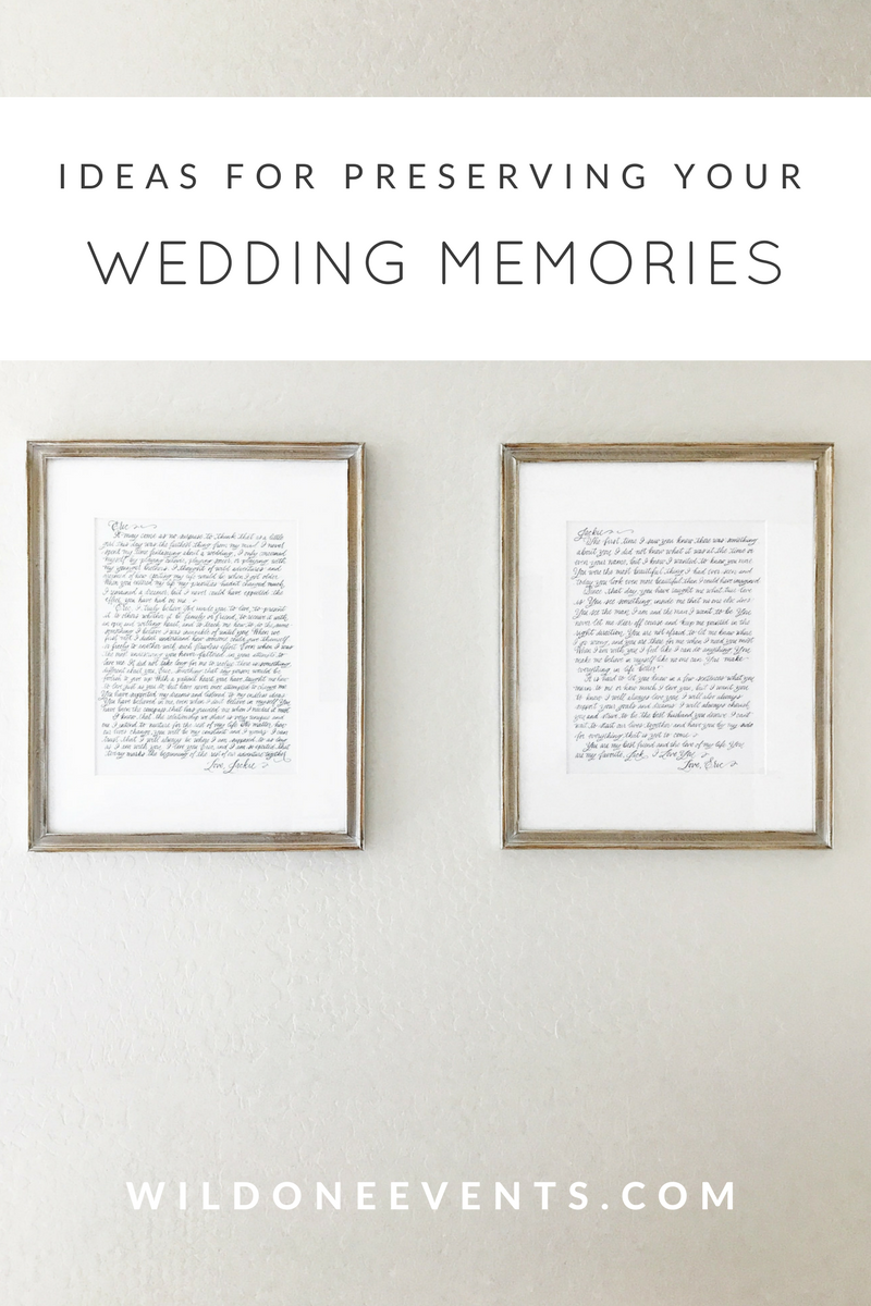Arizona wedding planner tips for preserving wedding day memories