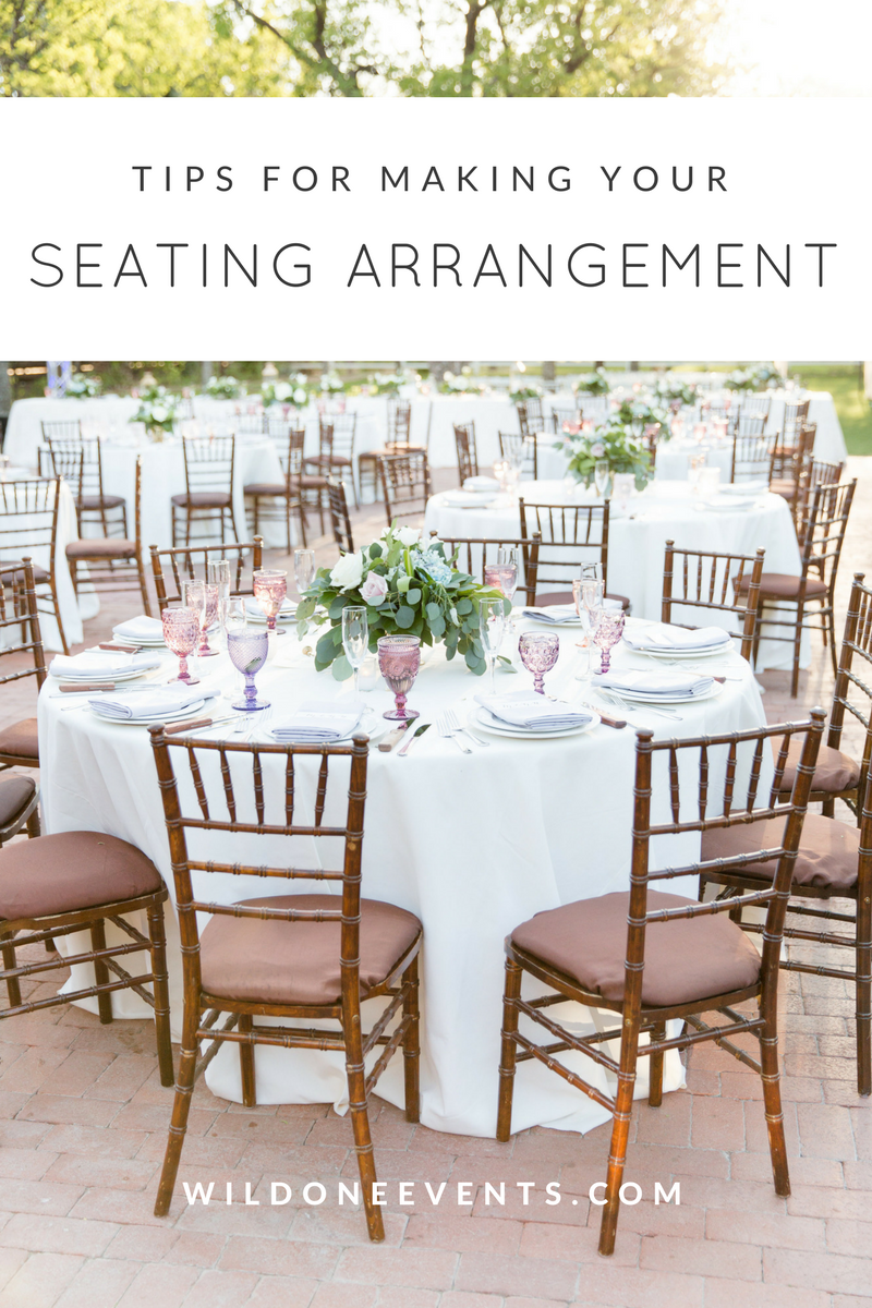 Phoenix Wedding Planner tips for making a seating arrangement