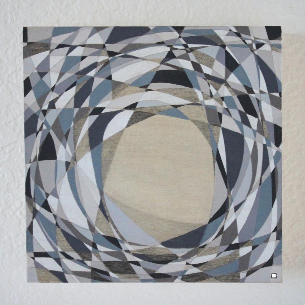 "Monochromatic Abstract, Pencil on Panel, 6"" x 6"" 2015_Boz Schurr.JPG"