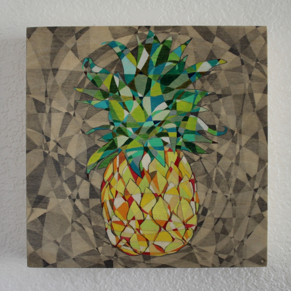 Pineapple Pencil on Panel 8in x 8in 2015 Boz Schurr.jpg