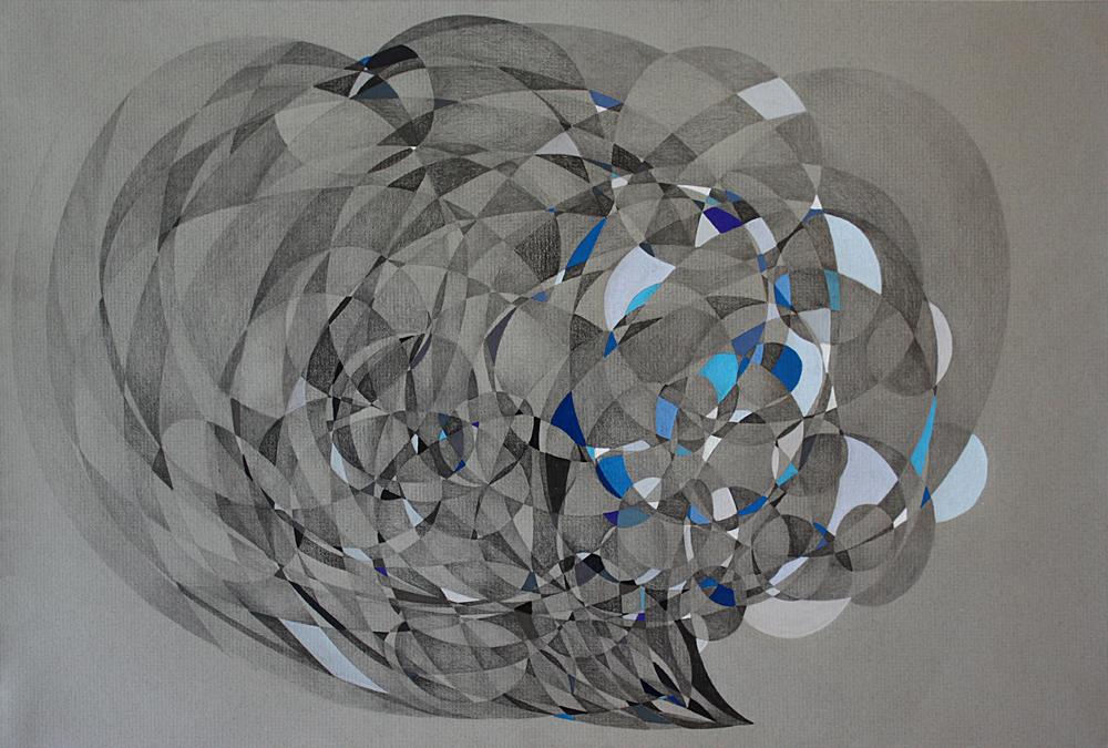 """""""Waimea Bay"""" Pencil on Paper, 12""""x 18""""2015"""