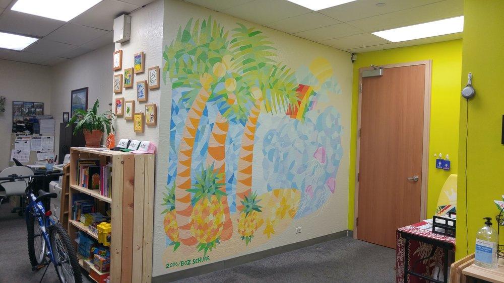 Mural for Hawaii Palms English School