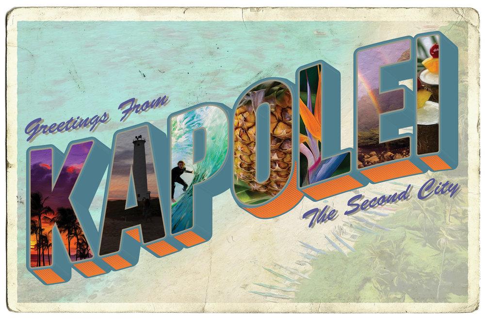 Mock Postcard - Oahu Edition