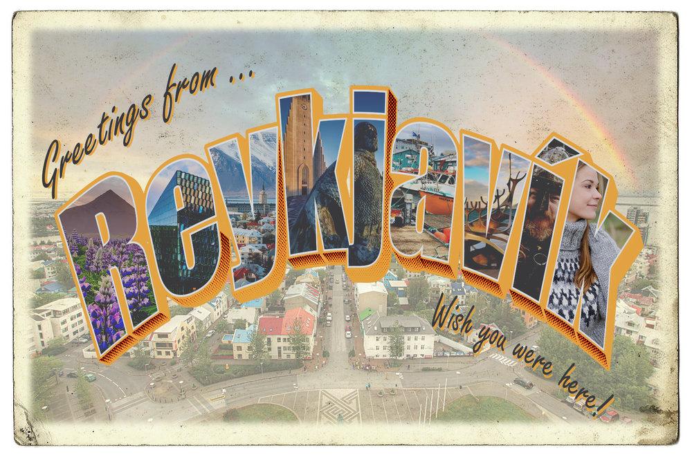 Mock Postcard - Iceland Edition