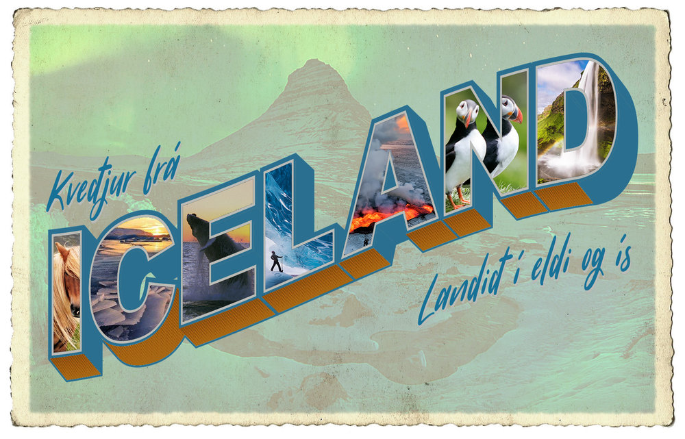 Mock Postcard - Iceland Edition