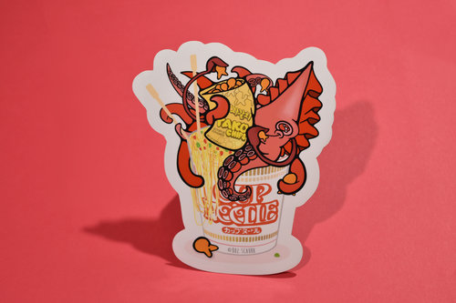 Cup'o Noodle (Squid Snack) Sticker