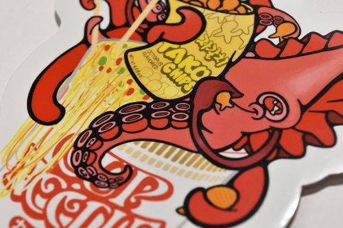 Cupo noodle squid snack