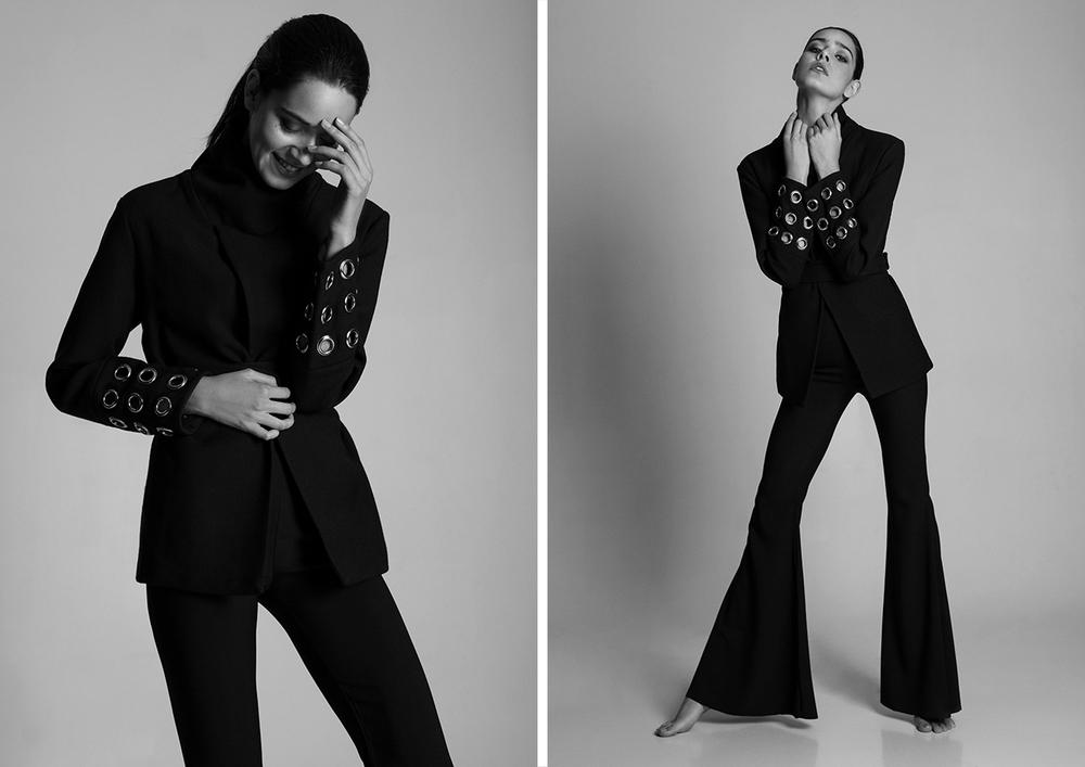 blazer and trousers: CAROLINA MACHADO
