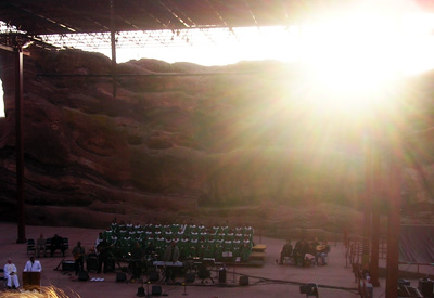 Sunrise During the Sermon
