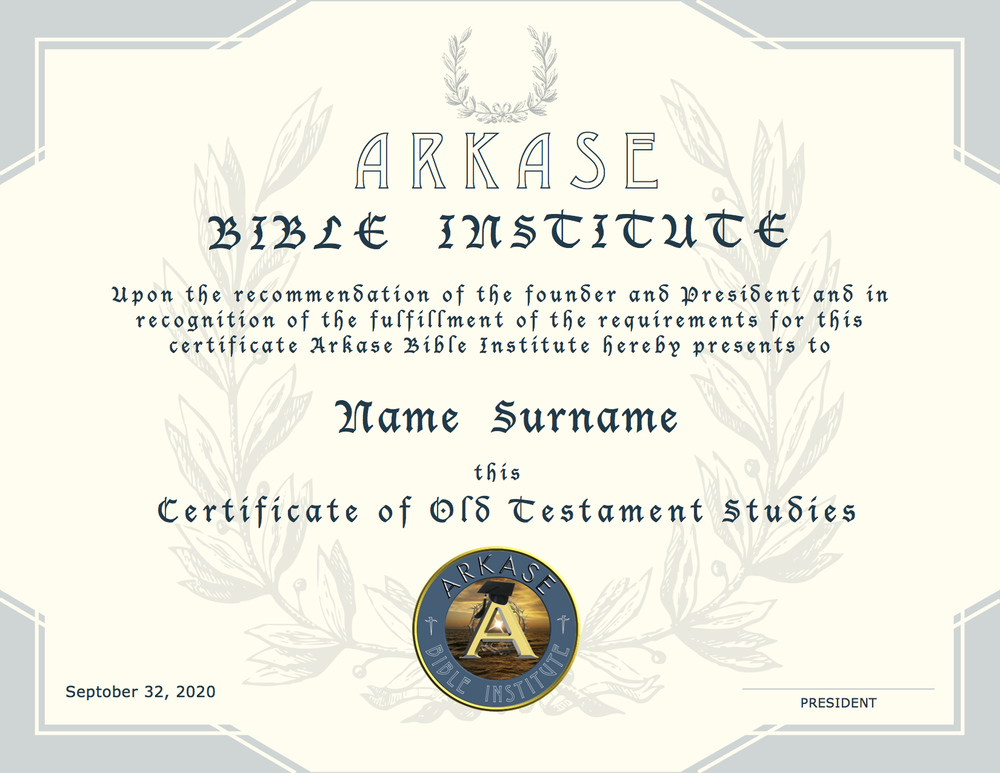 OT Certificate