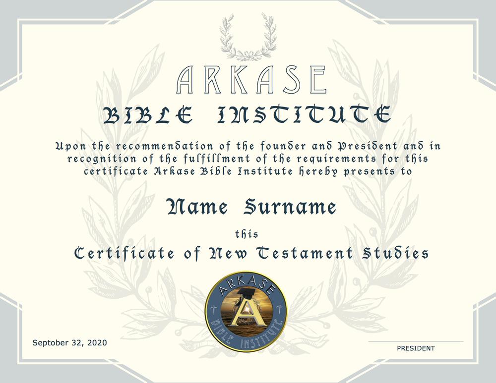 NT Certificate