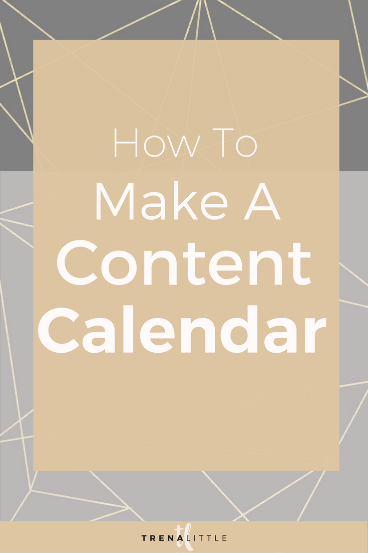 how to make a content calendar