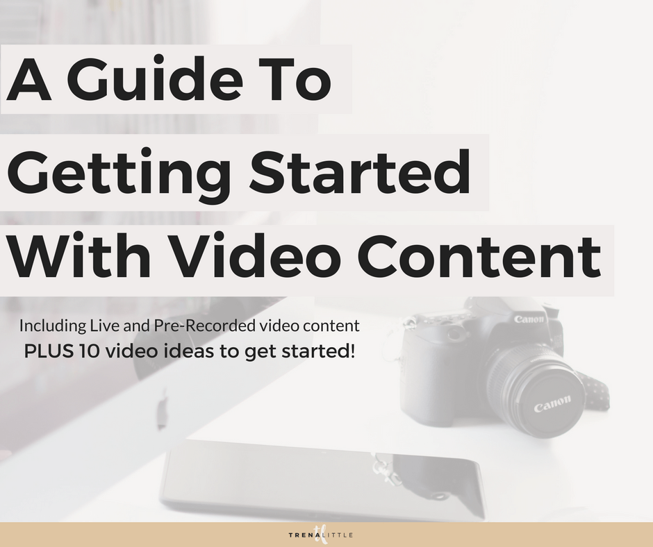 how to get started with video content