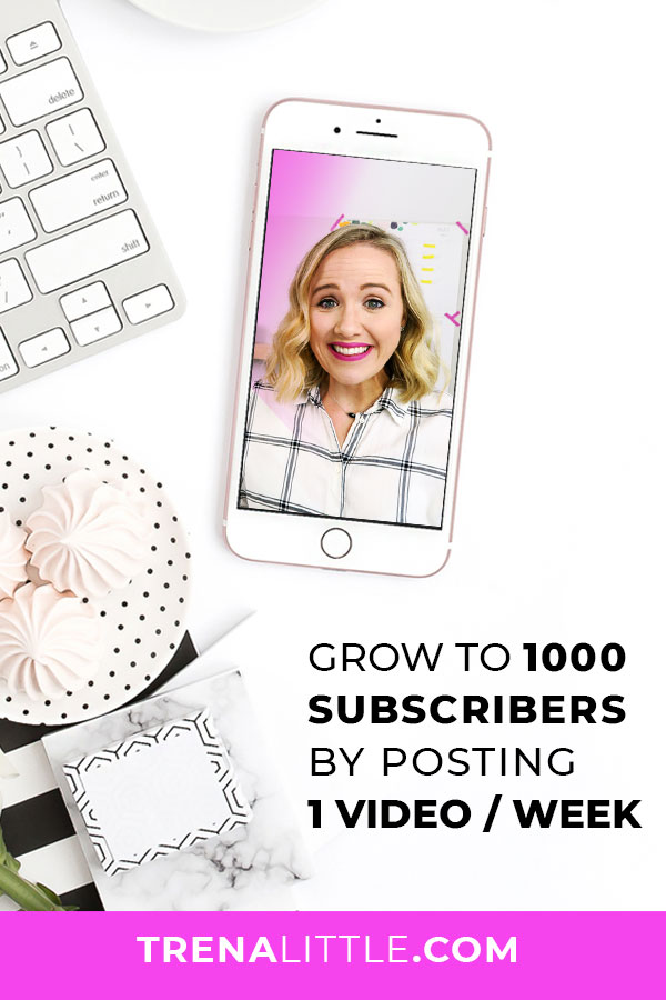 how to get your first 1000 subscribers posting once a week