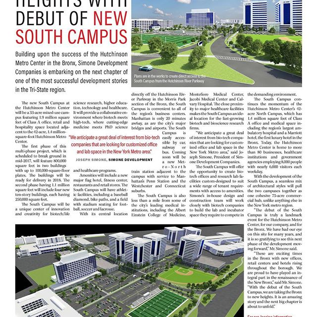 #crainsny #trdny #therealdeal #hutchinsonmetrocenter #phase2 #simonedevelopmentcompanies #southcampus