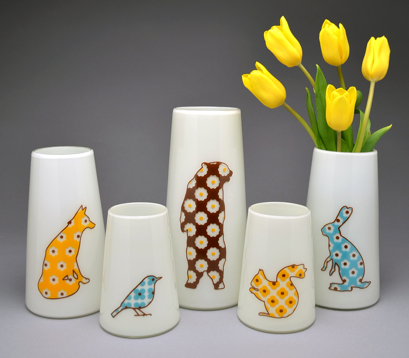 sandpiper studio flora and fauna vase group.jpg