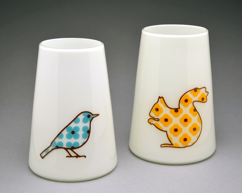 sandpiper studio flora and fauna vases bird and squirrel.jpg