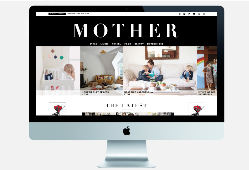 Mother Magazine | Website design by Jane Riley