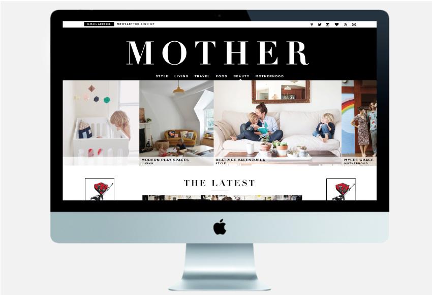 Mother Magazine   Website design by Jane Riley