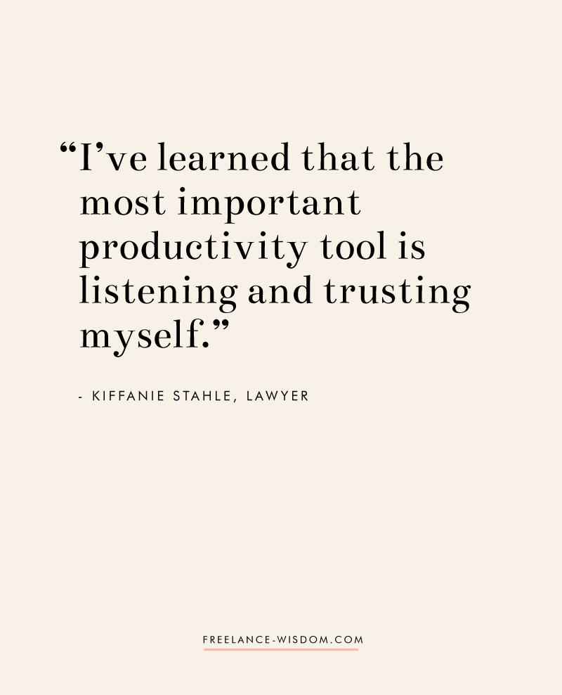 Kiffanie Stahle | Freelance Wisdom