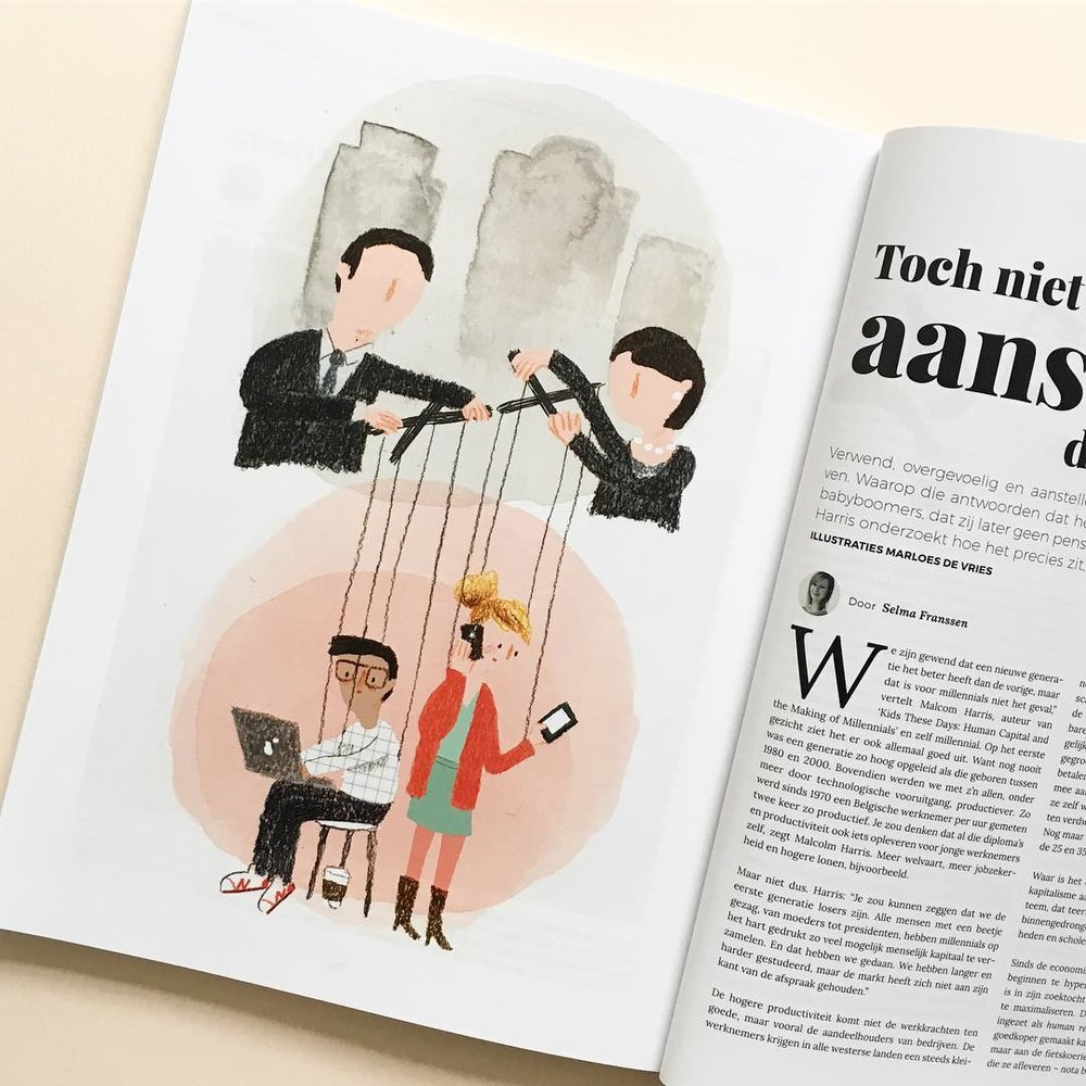 Marloes De Vries | Magazine Illustration | Freelance Wisdom